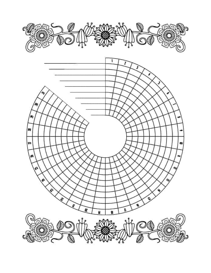 circle tracker bullet journal printable