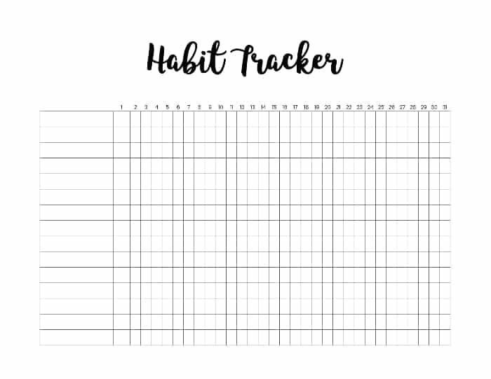 habit tracker excel download