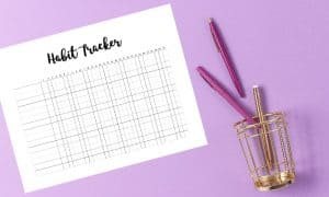 printable habit tracker excel template